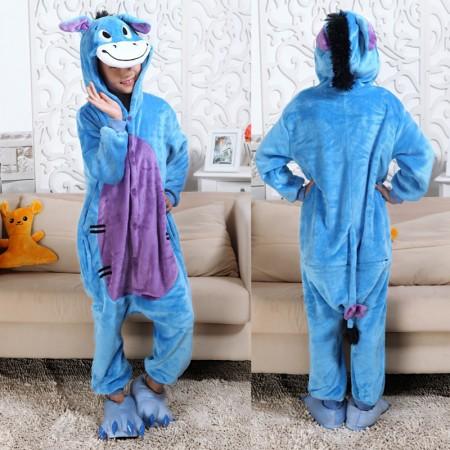 Eeyore Donkey Onesie Pajamas Animal Kigurumi Disney Costumes for Kids
