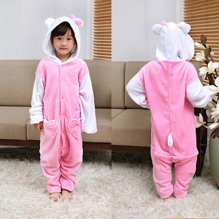 Hello Kitty Cat Onesie Pajamas Animal Kigurumi Costumes for Kids