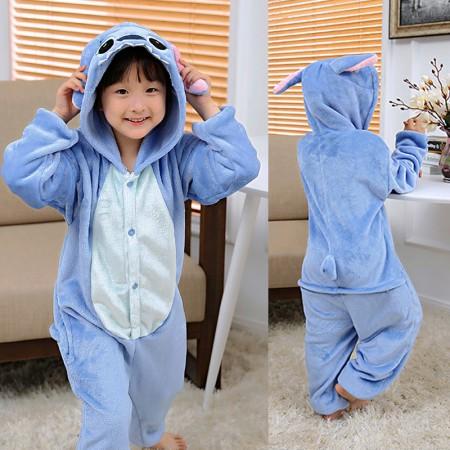 Stitch Onesie Pajamas Animal Kigurumi Costumes for Kids