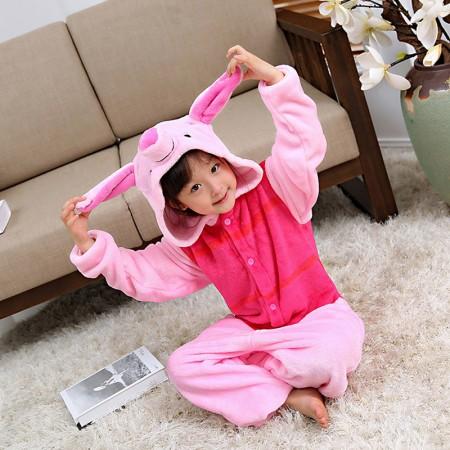 Winnie the Pooh Piglet Pig Onesie Pajamas Animal Kigurumi Costumes for Kids