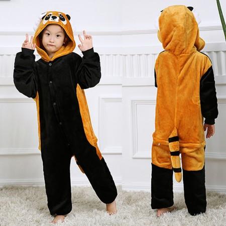 Red Panda Onesie Pajamas Animal Kigurumi Costumes for Kids
