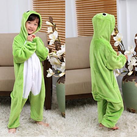 Frog Onesie Pajamas Animal Kigurumi Costumes for Kids