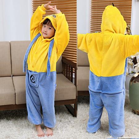 Minions Onesie Pajamas Animal Kigurumi Costumes for Kids