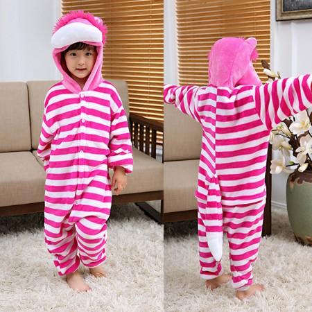 Cheshire Cat Onesie Pajamas Animal Kigurumi Costumes for Kids