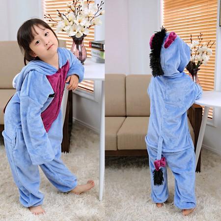 Eeyore Donekey Onesie Pajamas Animal Kigurumi Costumes for Kids