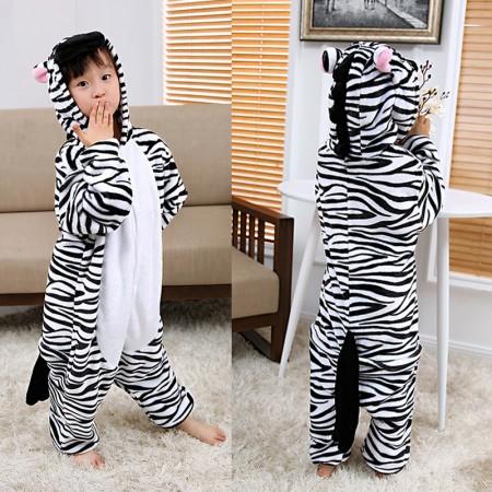 Zebra Onesie Pajamas Animal Kigurumi Costumes for Kids