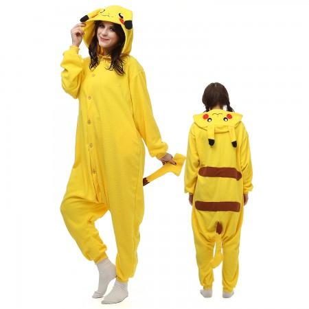 Pokemon Pikachu Onesie Pajamas Animal Costumes For Adult Unisex