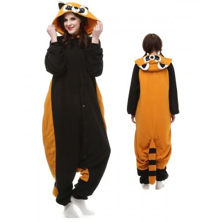 Red Panda Raccoon Kigurumi Onesie Pajamas Animal Costumes For Adult