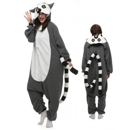 Ring-Tailed Lemur Kigurumi Onesie Pajamas Animal Costumes For Adult