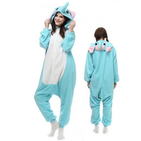 Blue Elephant Kigurumi Onesie Pajamas Animal Costumes For Adult
