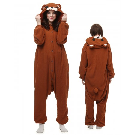 Rilakkuma Bear Kigurumi Onesie Pajamas Animal Costumes For Adult