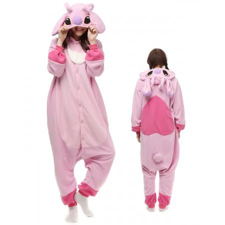 Pink Stitch Lilo Angel Kigurumi Onesie Pajamas Animal Costumes For Adult