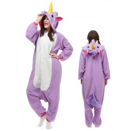 Purple Unicorn Kigurumi Onesie Pajamas Animal Costumes For Adult