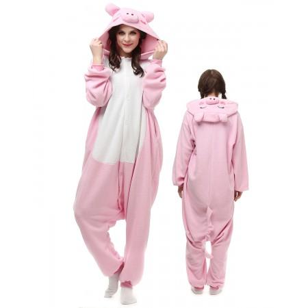 Pink Pig Kigurumi Onesie Pajamas Animal Costumes For Adult