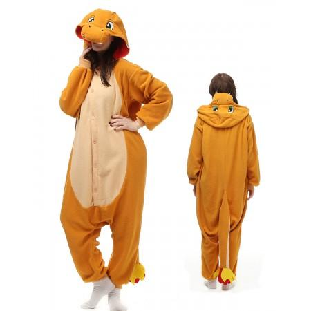 Fiery Dragon Kigurumi Onesie Pajamas Animal Costumes For Adult