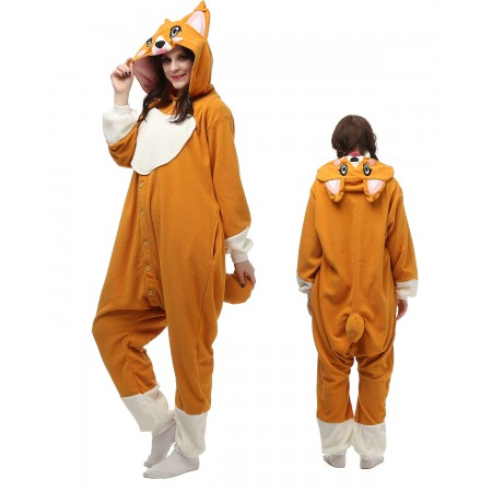Corgi Dog Kigurumi Onesie Pajamas Animal Costumes For Adult