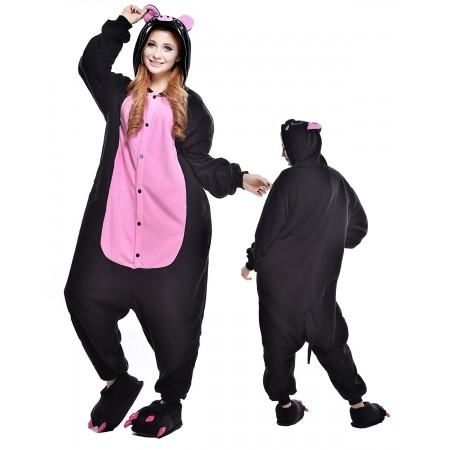 Black Pig Kigurumi Onesie Pajamas Animal Costumes For Adult