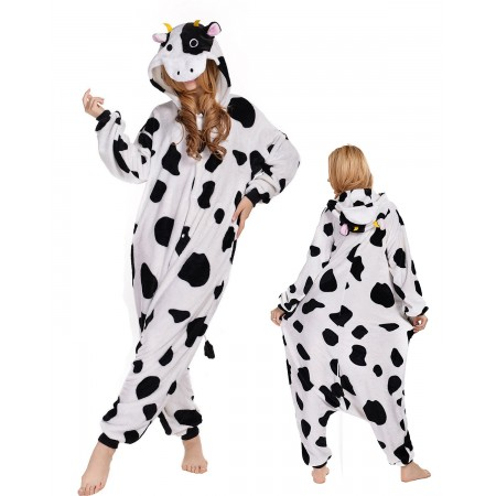 Cow Kigurumi Onesie Pajamas Animal Costumes For Adult
