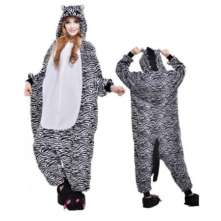 Zebra Kigurumi Onesie Pajamas Animal Costumes For Adult