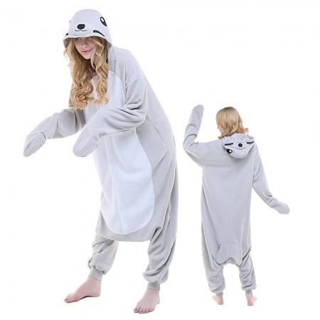 Adult Seal Onesie Pajamas Animal Costumes For Women & Men
