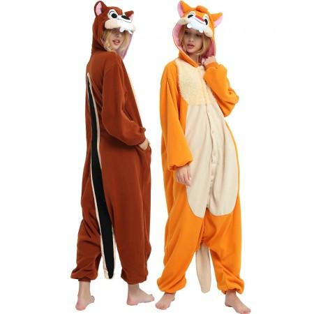 Adult Chipmunk Onesie Costume For Women & Men Unisex