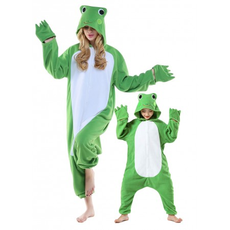 Frog Onesie Costume For Adult & Kids Unisex Style