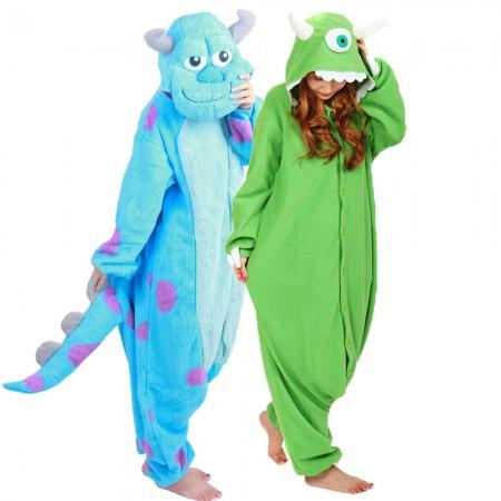 Sulley & Mike Wazowski Onesie Costume For Women & Men Unisex Style