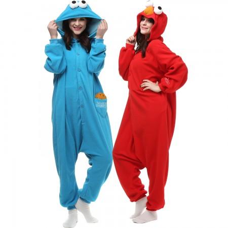 Cookie Monster Kigurumi Onesie Pajamas Animal Costumes For Women & Men