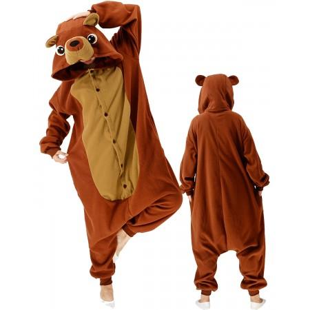 Teddy Bear Onesie Costume For Women & Men Unisex Style