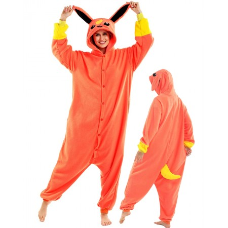 Flareon Onesie Costume For Women & Men Unisex Style