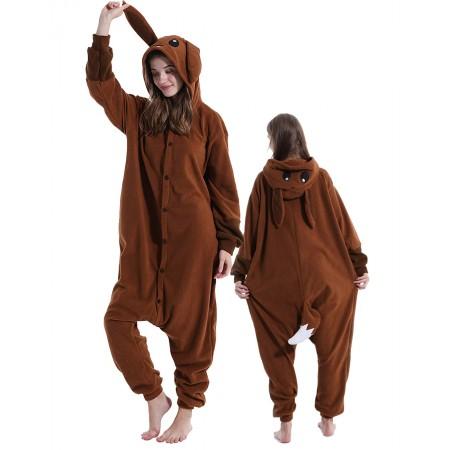 Brown Eevee Onesie Costume For Women & Men Unisex Style