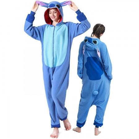 Adult Stitch Onesie Costume Zip Up