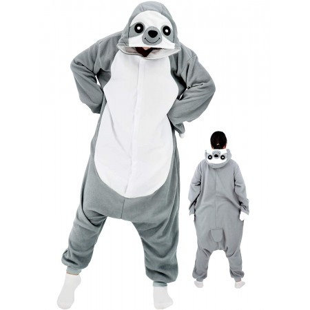 Adult Sloth Onesie Halloween Costume Outfit For Women & Men