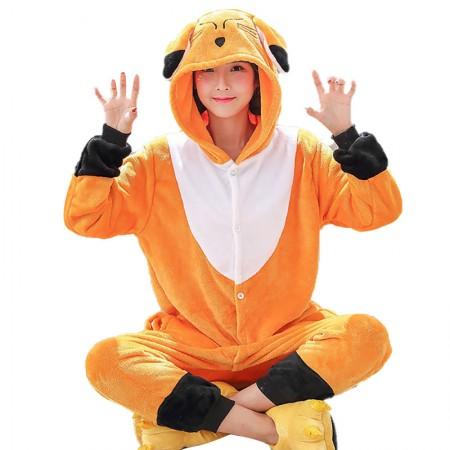 Fox Onesie Adult Animal Halloween Costumes Outfit Women Pajamas