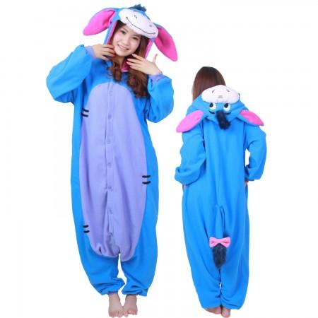 Winnie The Pooh Eeyore Costume Eeyore Onesie Pajamas For Adult & Teens Animal Costumes