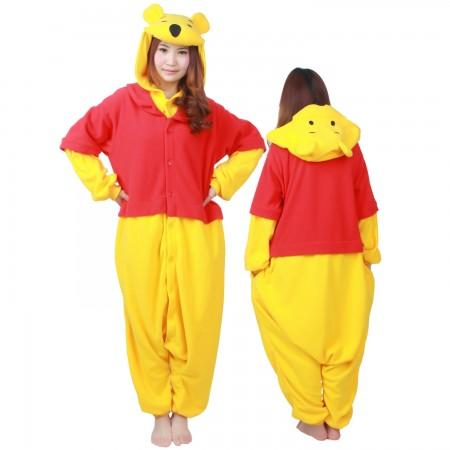 Winnie The Pooh Costume Onesie Pajamas For Adult & Teens Animal Costumes