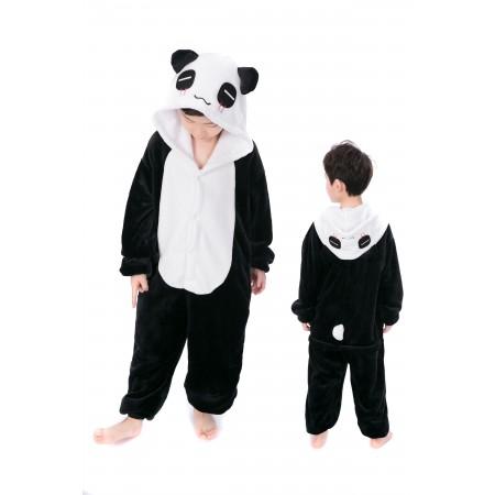 animal kigurumi black white Panda onesie pajamas for kids