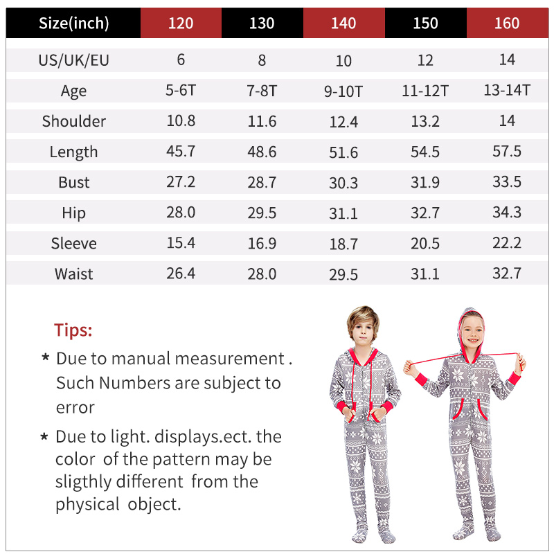kids onesies size chart
